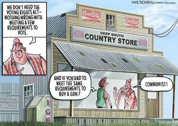Voting rights versus gun rights