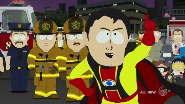Captain Hingsight from Southpark