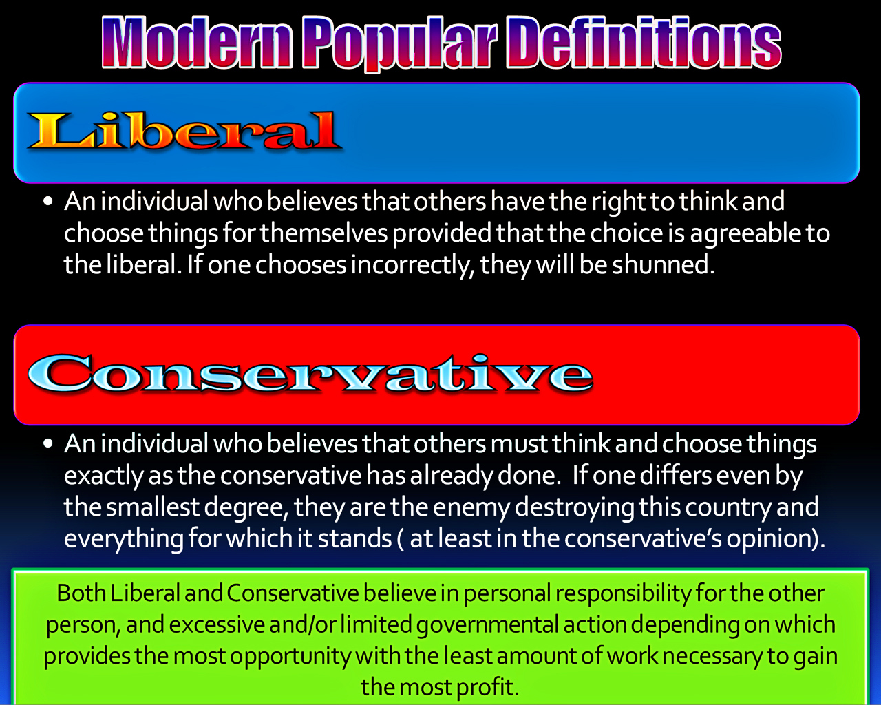 liberal and conservative the modern definitions – lab louisiana boy