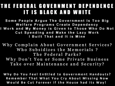 The Federal Government Dependence In Black and White